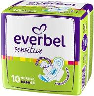 Дамски превръзки с крилца - Everbel Sensitive Normal - Опаковки от 10 ÷ 20 броя - лак
