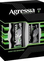 """Подаръчен комплект за тяло за мъже - Душ гел и дезодорант от серията """"Agressia Men Fresh"""" - продукт"""