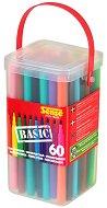 Цветни флумастери в кутия - Basic - Комплект от 60 броя