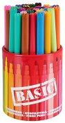 Цветни флумастери с моливник - Basic - Комплект от 42 броя