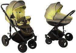 Бебешка количка 2 в 1 - Pia: Green - С 4 колела -