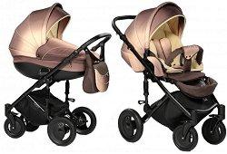 Бебешка количка 2 в 1 - Pia: Choco - С 4 колела -