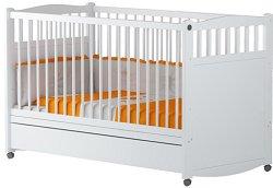 Бебешко креватче с чекмедже - Валери - Цвят бял -
