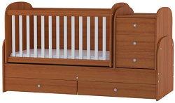 Трансформиращо се детско легло - Baby Junior - Цвят череша -