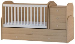 Трансформиращо се детско легло - Baby Junior - Цвят бук -