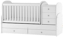 Трансформиращо се детско легло - Baby Junior - Цвят бял -