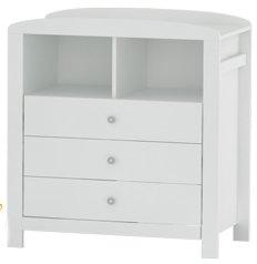 Скрин с 3 чекмеджета - Валери Класик - Цвят бял -
