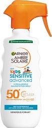 Garnier Ambre Solaire Kids Sensitive Advaned - SPF 50+ - Слънцезащитен спрей за деца за плуване -