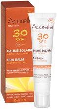 """Acorelle Nature Sun Balm - SPF 30 - Био слънцезащитен балсам за лице с масло от каранджа от серията """"Nature Sun"""" -"""