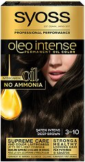 Syoss Oleo Intense - Трайна крем боя за коса без амоняк - очна линия
