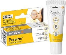 Крем за заздравяване на напукани зърна - Purelan 100 - Опаковки от 7 ÷ 37 g - олио