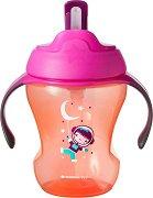 """Неразливаща се чаша със сламка и дръжки - Easy Drink 230 ml - За бебета над 6 месеца от серията """"Explora"""" - чаша"""