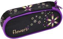 Ученически несесер - Цветя - детски аксесоар