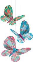 Висяща декорация за детска стая - Блестящи пеперуди - фигура