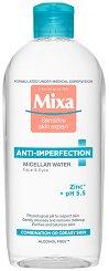 "Mixa Anti-Imperfections Micellar Water - Мицеларна вода против несъвършенства от серията ""Anti-Imperfections"" - серум"