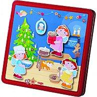 Коледна пекарна - Детски комплект с магнити -