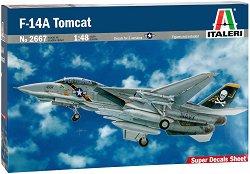 Военен самолет - F-14A Tomcat - Сглобяем авиомодел - макет