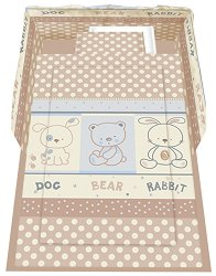 Спален комплект за бебешко креватче - Friends: Beige - 5 части с олекотена завивка -