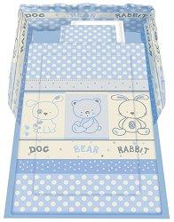 Спален комплект за бебешко креватче - Friends: Blue - 5 части с олекотена завивка -