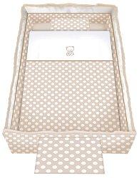 Спален комплект за бебешко креватче - Trend: Beige Bear - 5 части, за матрак с размер 62 x 110 cm -