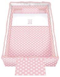 Спален комплект за бебешко креватче - Trend: Pink Rabbit - 5 части, за матрак с размер 62 x 110 cm -