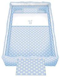 Спален комплект за бебешко креватче - Trend: Blue Dog - 5 части, за матрак с размер 62 x 110 cm -