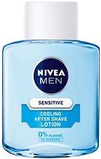"""Nivea Men Sensitive Cooling After Shave Lotion - Охлаждащ лосион за след бръснене за чувствителна кожа от серията """"Sensitive"""" - маска"""
