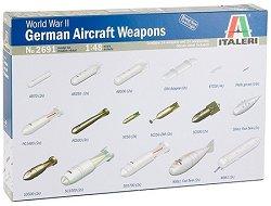 Оръжия и бомби за немски бомбардировачи от Втората световна война - Сглобяем модел - комплект с оръжия и аксесоари -