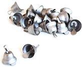 Сребристи камбанки - Комплект от 20 броя с диаметър 0.7 cm