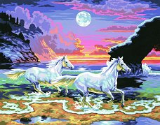 Нарисувай сам шедьовър - Бягащи коне - Творчески комплект - творчески комплект