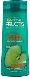 Garnier Fructis Grow Strong Shampoo - Шампоан за тънка и късаща се коса в разфасовки от 250 ÷ 400 ml - лосион