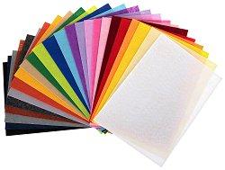 Филц - Комплект от 24 цвята - Формат A4