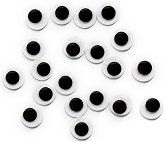 Мърдащи се очички - самозалепящи - Комплект от 20 броя