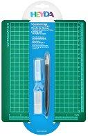 Самовъзстановяваща се подложка за рязане - Комплект със скалпел и 6 резервни остриета