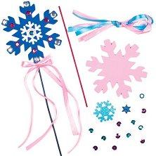 Направи самa магически пръчици - Снежинки - Творчески комплект - играчка