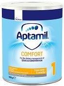 Мляко за кърмачета с леки храносмилателни смущения - Aptamil Comfort 1 Proexpert - Опаковка от 400 g за бебета от 0 до 6 месеца - продукт
