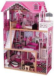 Къща за кукли - Амелия - Дървена детска играчка -