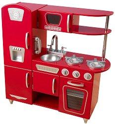 Ретро кухня - Дървена детска играчка - играчка