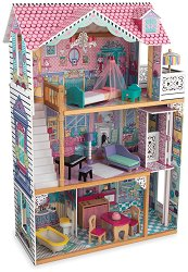 Къща за кукли - Анабел - Дървена детска играчка -