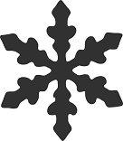 Пънч - Снежинка - Размер на щанцата L -