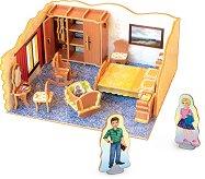 """Спалня - 3D пъзел от колекцията """"3D Къща"""" - пъзел"""