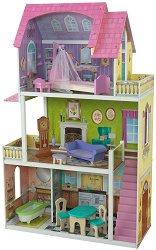 Къща за кукли - Флорънс - Дървена детска играчка -