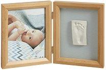 """Рамка за снимка и отпечатък - My Baby Touch - Комплект от серия """"Wooden"""" - продукт"""