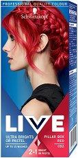 Schwarzkopf Live Ultra Brights Or Pastel - Полу-трайна крем боя за коса в ярки цветове - маска