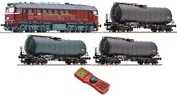 Товарен влак за гориво с дизелов локомотив BR 120 - DR - Дигитален стартов комплект с дистанционно управление -