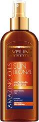 """Eveline Amazing Oils Sun Bronze Deep Tan - Олио за интензивен бронзов тен с макадамия и кукуи от серията """"Sun Care"""" - продукт"""