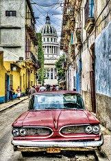 Ретро автомобил в Хавана, Куба - пъзел