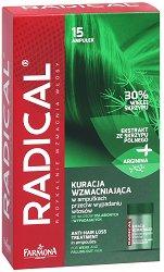 """Farmona Radical Anti-Hair Loss Treatment - Комплекс за стимулиране на растежа на косата от серията """"Radical"""" - продукт"""