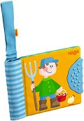 Книжка за закачане с дъвкалка - Във фермата - Бебешка играчка за детска количка и легло - играчка