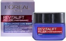 L'Oreal Revitalift Filler Anti-Ageing Revolumizing Care Night - Нощен крем против стареене с хиалуронова киселина -